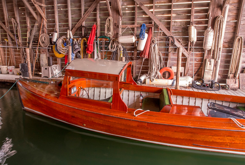 Launch in Viking Marine Boathouse
