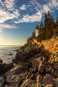 Sunset on Bass Harbor Light house