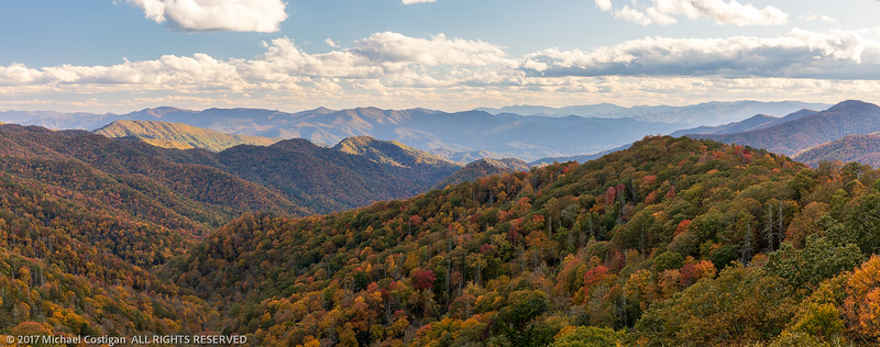 Panorama of Late Afternoon on Deep Creek Overlook