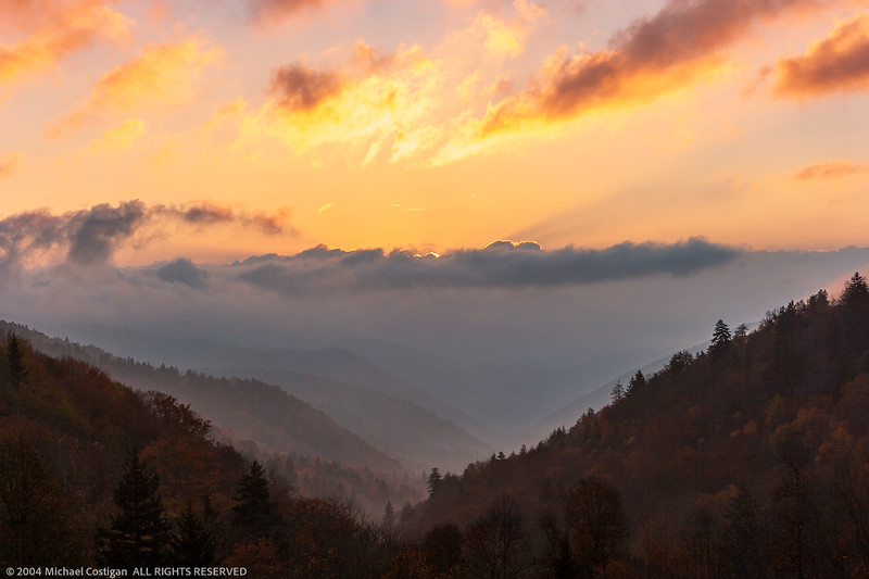 Cloudy Morning in the Oconaluftee Valley