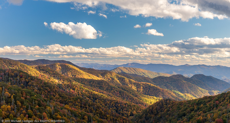 Panorama of Late Afternoon from Deep Creek Overlook