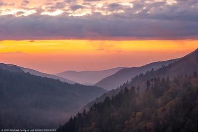 Cloudy Sunset from Morton Overlook