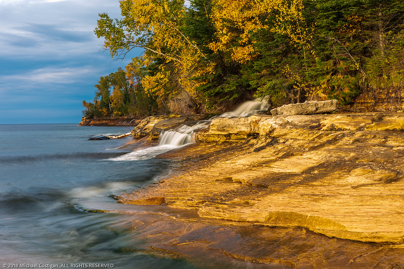Cloudy Evening at Elliot Falls,  Pictured Rocks National Lakeshore