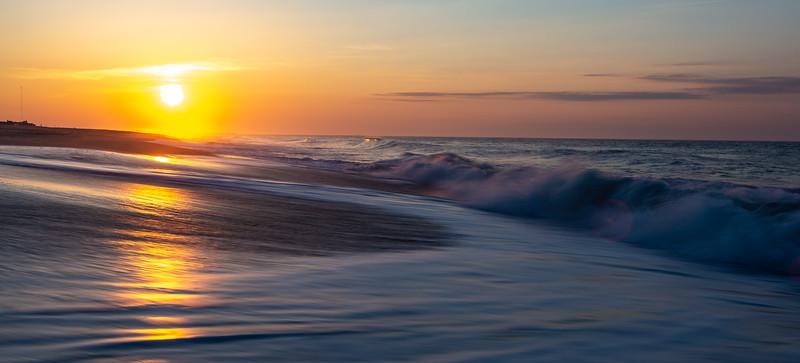 Glorious Sunrise on Cape May Beach