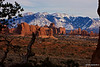 La Sal Mountains near Balanced Rock - Arches National Park, Utah - David Smith - January 2012