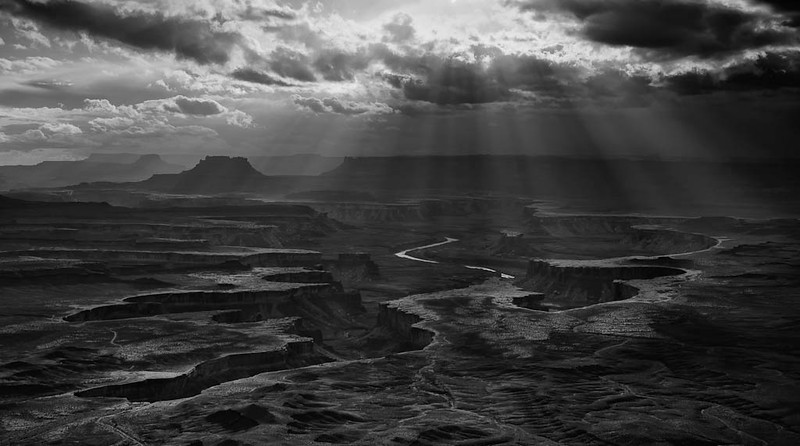 Green River Overlook in Monotone - Canyonlands National Park, Utah - Darren Stratemeier - November 2009