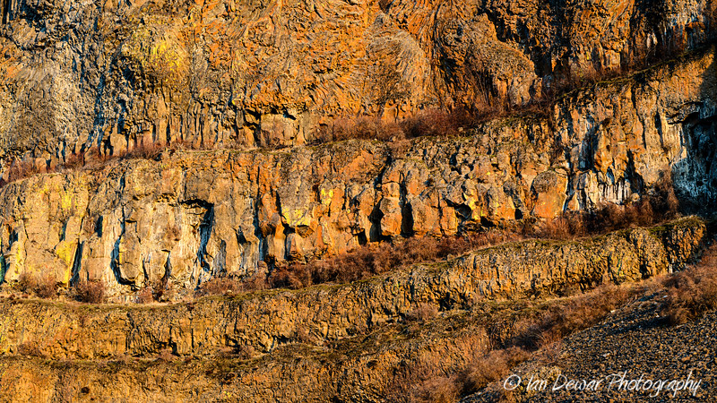 Basalt Cliff in the Grand Coulee Region