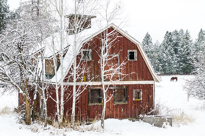 Dreamy Winter Barn