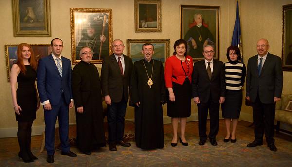 Armenia's Minister of Diaspora Visits Diocesan Center, April 1, 2016