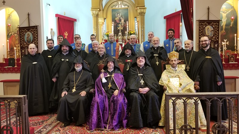 Sts. Ghevontiantz Day 2019: New York-New Jersey and Mid-Atlantic region clergy, with Primate Fr. Daniel Finidkyan presiding.