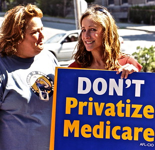 03.08.28 Don't Privatize Medicare Rally in Bangor