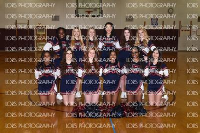 2016-02-11 Eastern Regional HS Freshman Girls Basketball+Cheer Team Photo