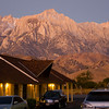 View from the Frontier Motel in Lone Pine, California