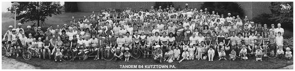 Eastern Tandem Rally 1984 group photo in Kutztown,  Pennsylvania.