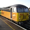 56113 after reversal at the north of the station waiting to head into Eastleigh Yard after arriving from Westbury