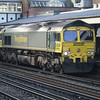 66564 departs after a driver change with 4M28 Southampton - Ditton