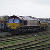 66174 shunts the engineers sidings