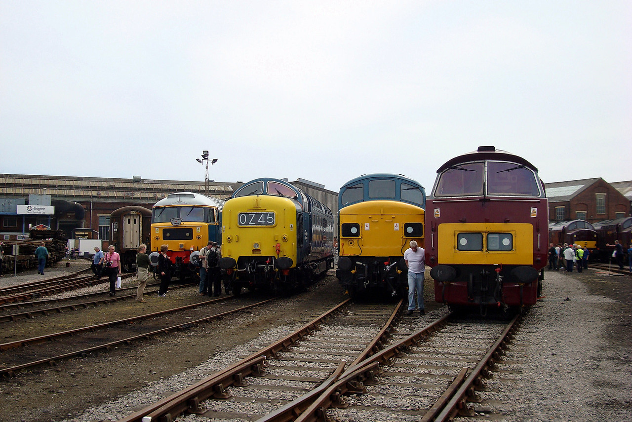 line up of the past locos. 23,05,2009