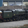 71000 'Duke of Gloucester' in Eastleigh Works yard