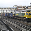 66569 heads 4M61 Southampton - Trafford Park liner through Eastleigh