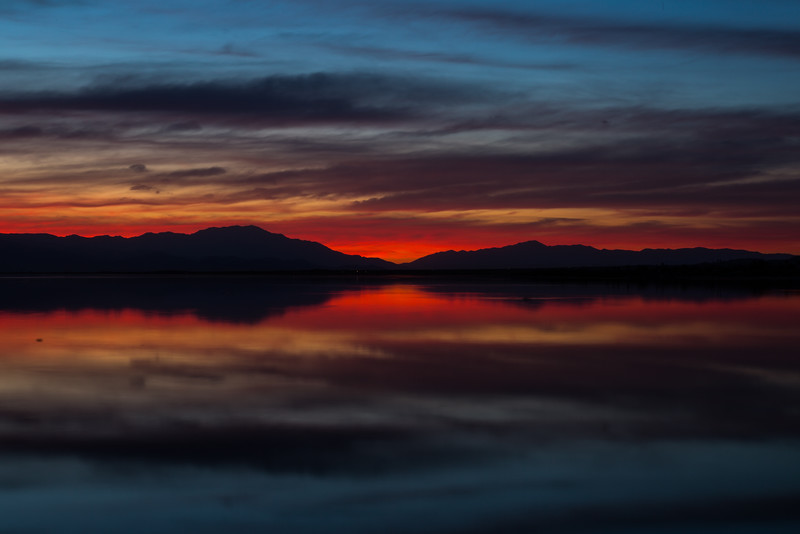 Sunset, Salton Sea, Ca