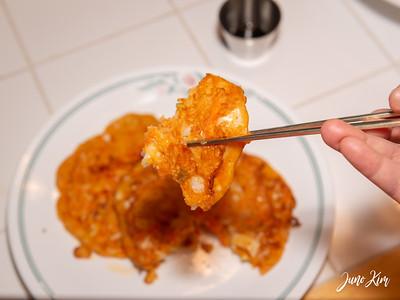 Delicious kimchi jeon