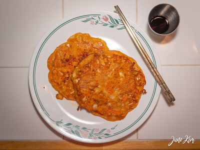 Kimchi jeon for the cold days