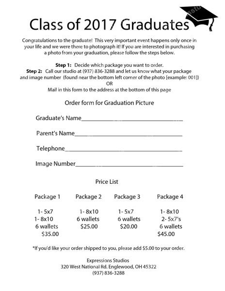 Graduation Order Form (2017)