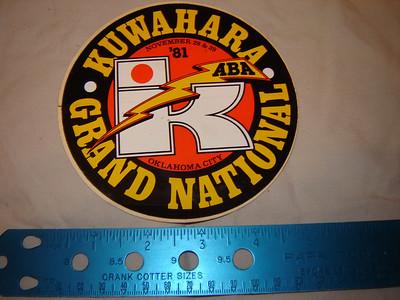 Vintage Kuwhahara grand nationals sticker 1981 $25.00
