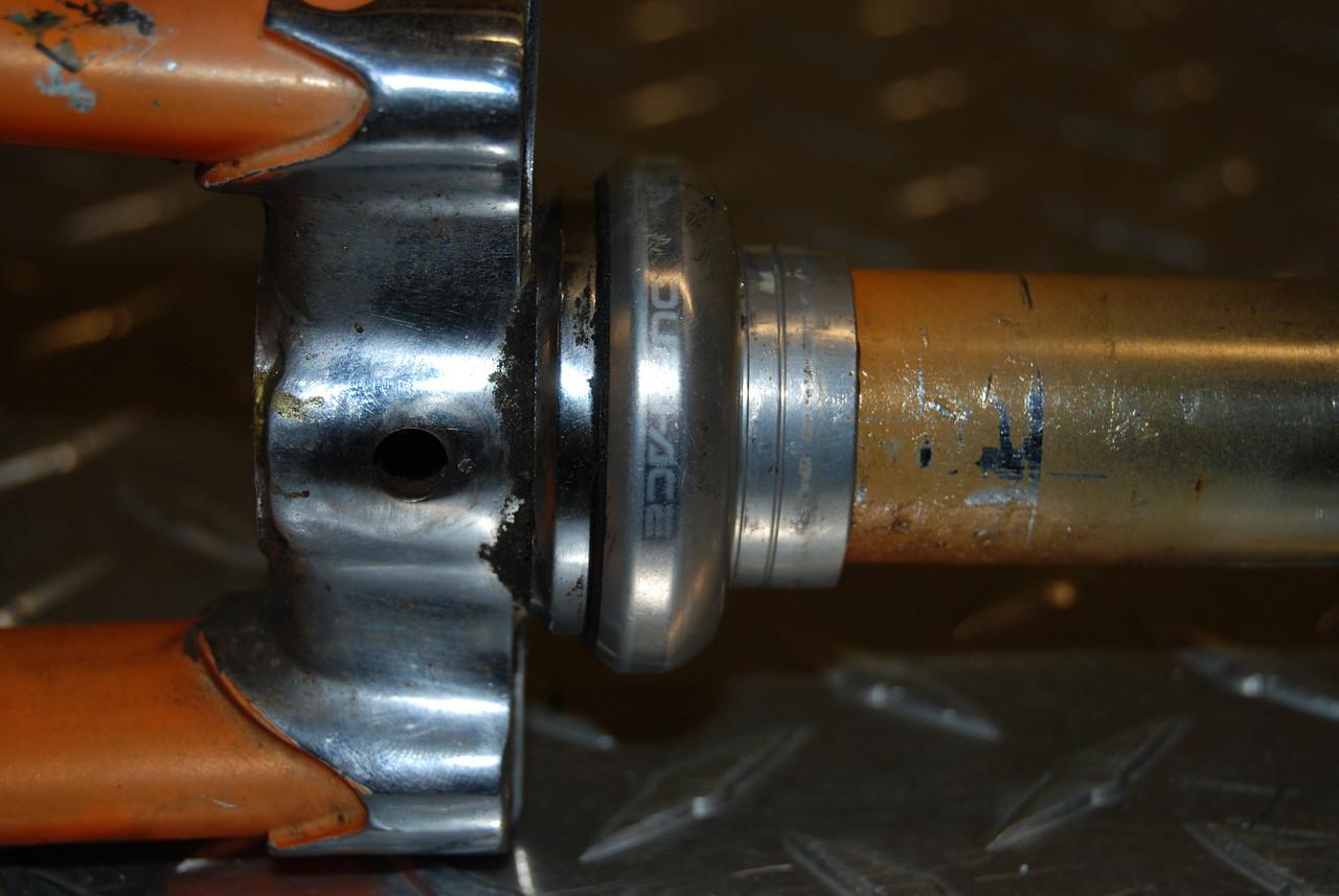 Vintage Nitto stem, Dura ace headset, Reynolds 531 fork. $60