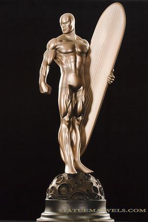 Bowen Designs Silver Surfer Faux Bronze Statue