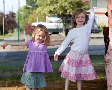 Fiona & Eva at Park