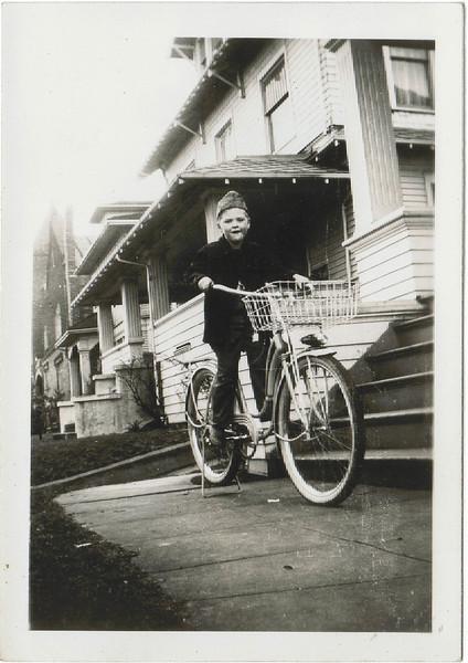 Lee Jr on Bike