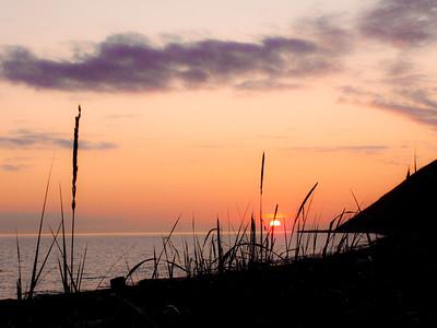 Grassy Sunset: Ebey's Landing.