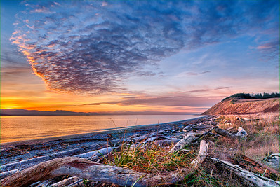 Extreme Ebey's Sunset