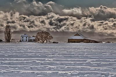 Smith Farm in Snow: January 2012.