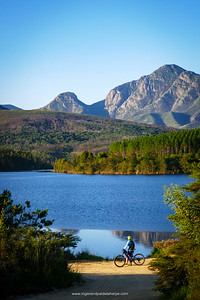 The Garden Route Dam, and in the background, the Gorgeous Outeniqua Mountains.