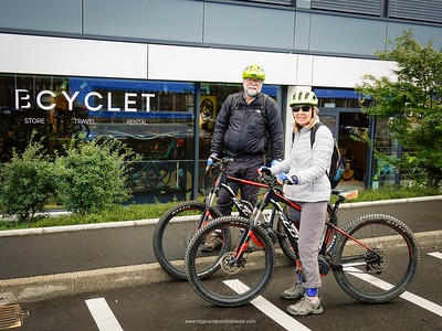 We collected our Scott bikes for our ride to Lyon at Bcyclet in Geneva.