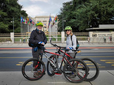 So awesome. we stopped off at the UN after collecting our bikes that we'll be using to ride along the Rhône River to Lyon in France.