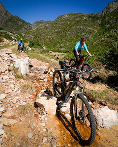 It did get a little bit technical on our ride with Franschhoek E-Mountain Bike Adventure into the Franschoek mountains. Still, a fantastic time was had by all in a stunningly beautiful place.