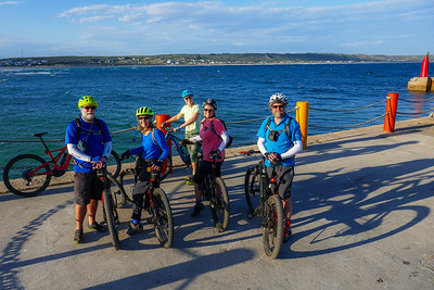 A quick stop at Still Bay Harbour while eBiking (mountain biking).