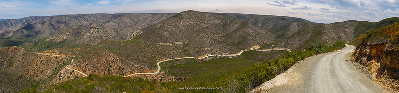 Typical Baviaanskloof terrain - Combrink's Pass. And to get to this point there is one HUGE climb.