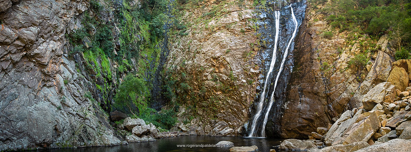 It's in this cool, dark kloof that we find the Rust en Vrede Waterfall - well worth the ride.