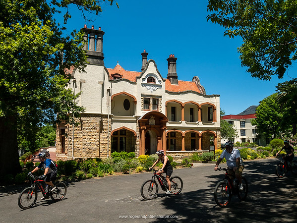 We visited Schoenstatt Retreat on the ebikes, this old building a combination of various architectural styles.