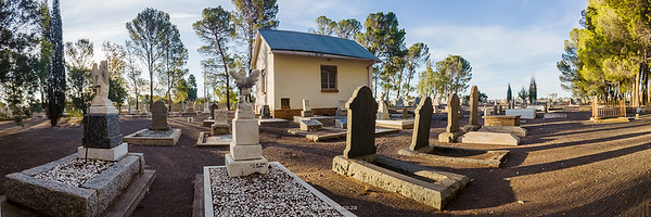 The Fraserburg Cemetery - so many children's graves - the result of the flu pandemic in 1918.