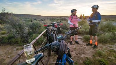 Sundowners in the wonderful Karoo veld - precious moments.