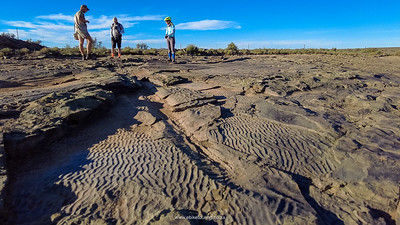 Water ripples in what was sand some 250 million years ago.