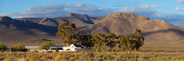 The main offices and camping site at Anysberg Nature Reserve, with the Matjiesgoedberg Mountains in the background.