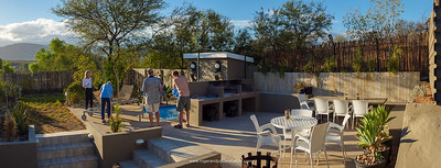 Chillin' at The Calitz in Calitzdorp on Route 62 - beers and wine at the pool. The Giant Little Karoo Trek.
