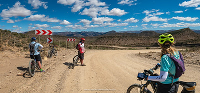 After some serious climbing up to the Anysberg Mountains we found ourselves looking out over a wonderful mountain biking playground. And some awesome sweeping sections of gravel to boot.